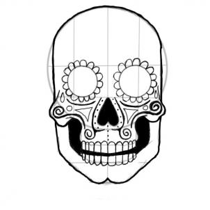 Drawn ssckull nose Free Drawing Art Line Clipart