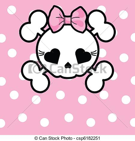 Ssckull clipart bow Skull Vector csp6182251 of with