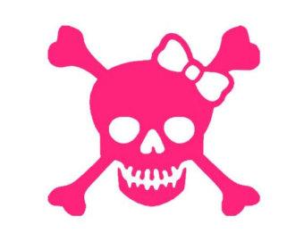 Ssckull clipart bow Paddle Vinyl Crossbones Skull Crossbones