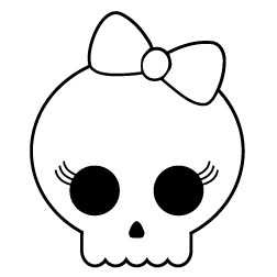 Ssckull clipart bow Bow With Clipart Skull With