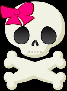 Ssckull clipart bow At Skull Art Clip Clker