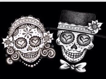 Ssckull clipart bride #6