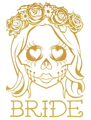 Ssckull clipart bride #9