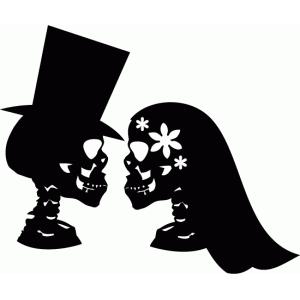 Ssckull clipart bride #8