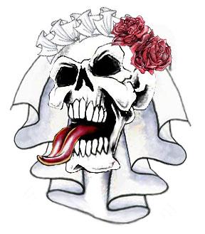 Ssckull clipart bride #2