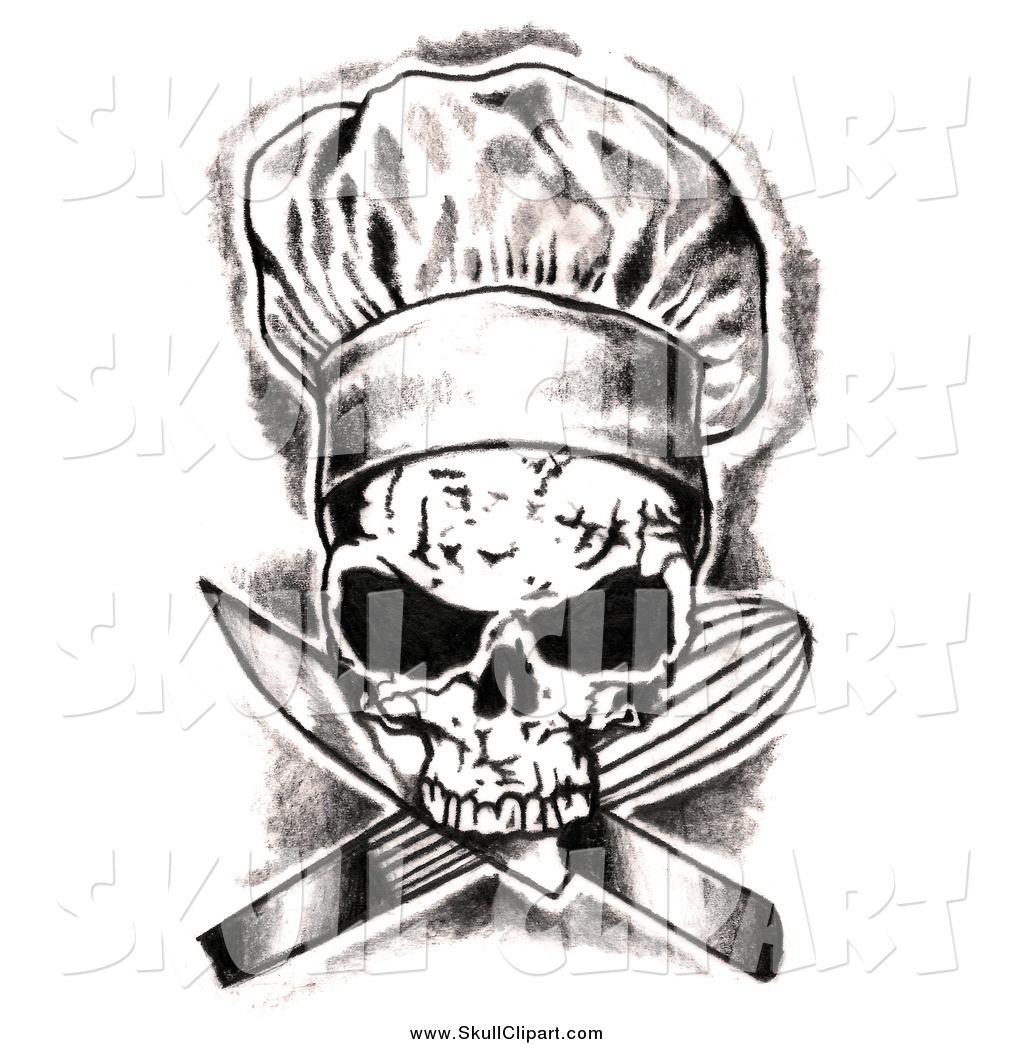 Ssckull clipart chef #1