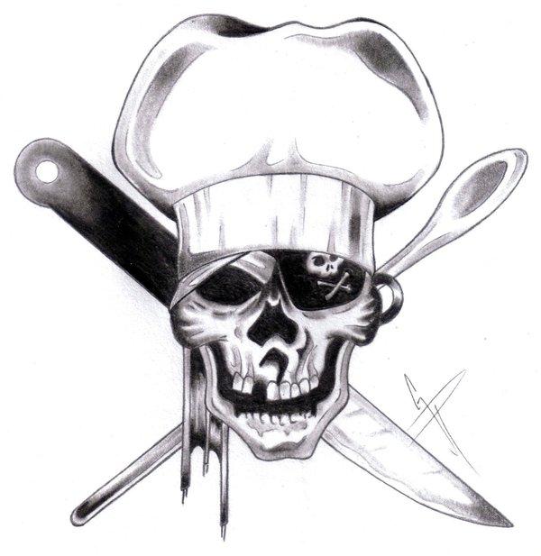 Ssckull clipart chef #3