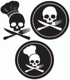 Ssckull clipart chef #2
