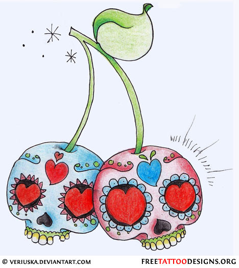 Ssckull clipart cherry Cross Up Cherry Bomb Pin