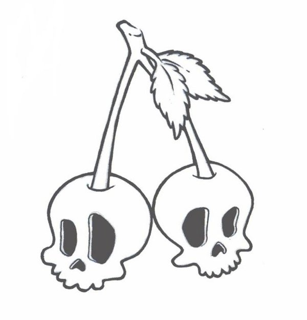 Ssckull clipart cherry ZombieGurl81 Skull DeviantArt by by