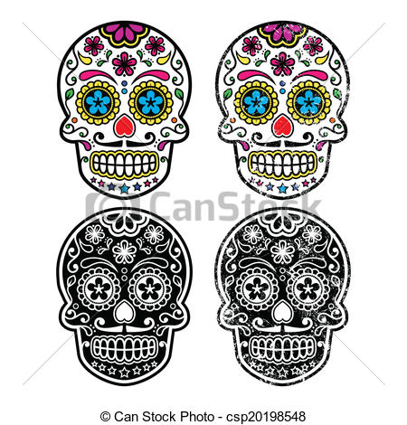 Ssckull clipart colorful Icon skull Mexican icon Mexican