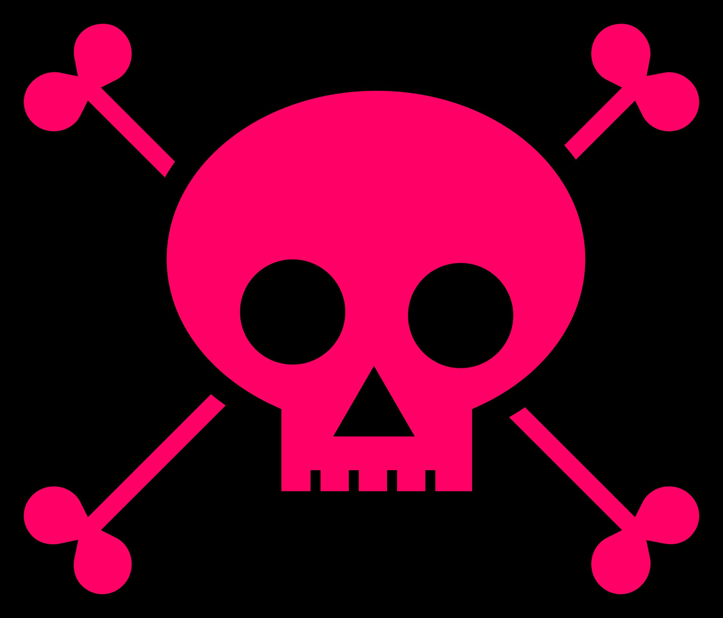 Toxic clipart skull and crossbones Skull Crossbones Pink and Skull