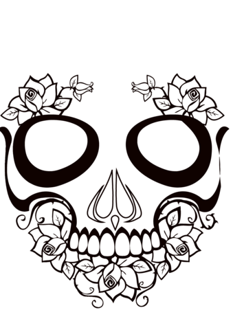 Ssckull clipart coloring page Coloring Pages Skull Skull to