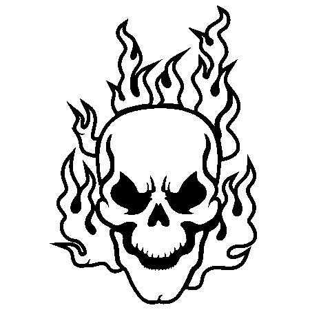 Ssckull clipart coloring page Free Art Designs Halloween tattoo