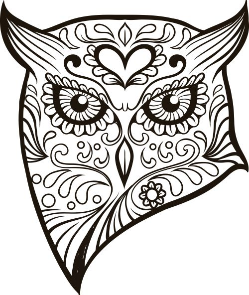 Ssckull clipart coloring page This images sugar with for