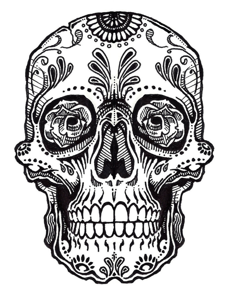 Drawn skull color For ClipArt Art ClipArt Art