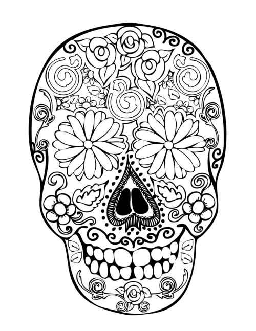 Ssckull clipart coloring page #freebies color 160 Art Sugar
