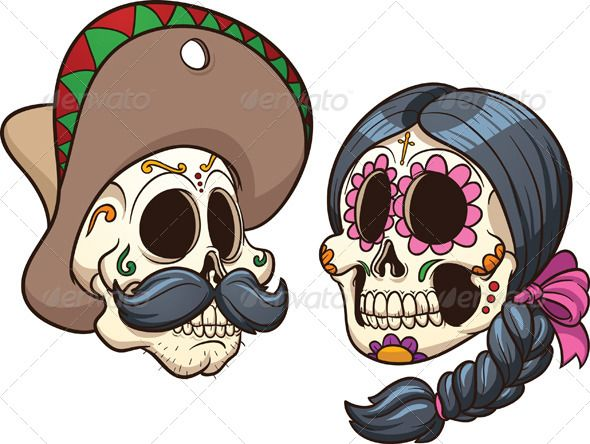 Ssckull clipart couple Culture images Spanish 186 about