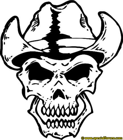 Cowboy clipart skull Cowboy Skull Short T Shirt
