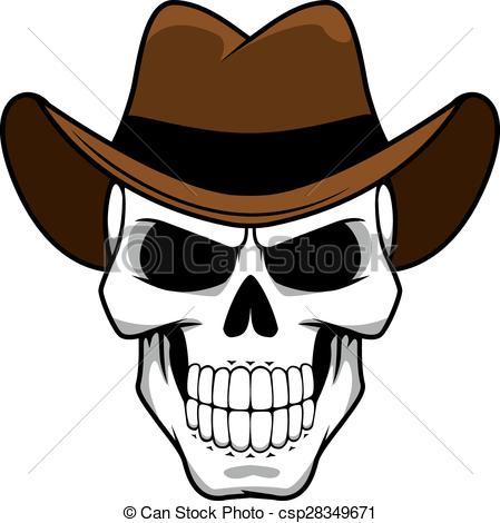 Cowboy clipart skull Skull Cowboy csp28349671 Illustration of