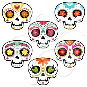 Day Of The Dead clipart skull  Clip Dead art Art