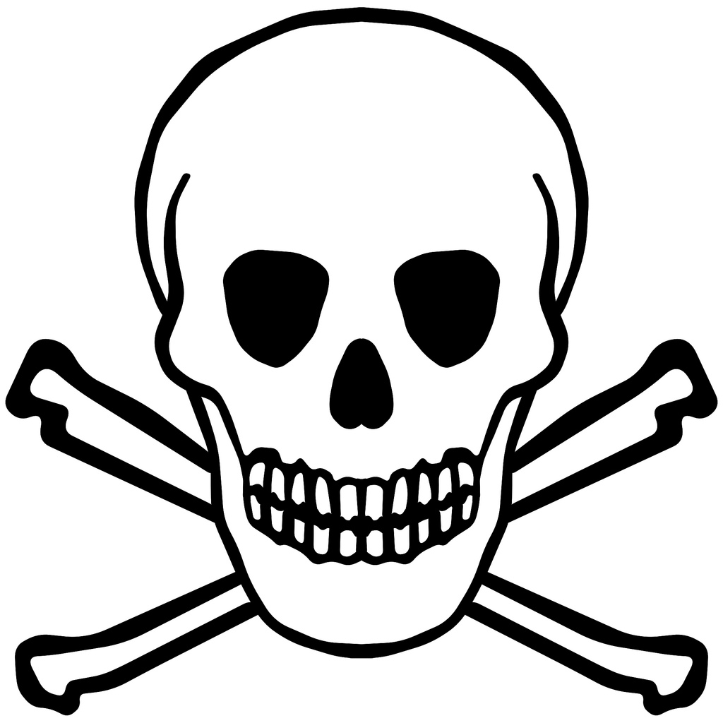 Can clipart toxic Clip Free Skull  Simple