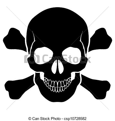 Ssckull clipart danger Csp10728582 and and Skull mark