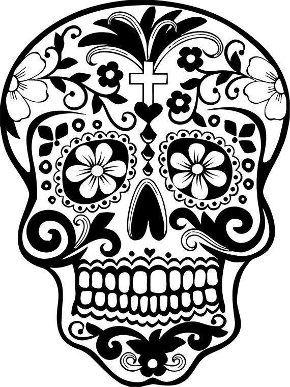 Sugar Skull clipart classic  Dead Sticker Day Sticker