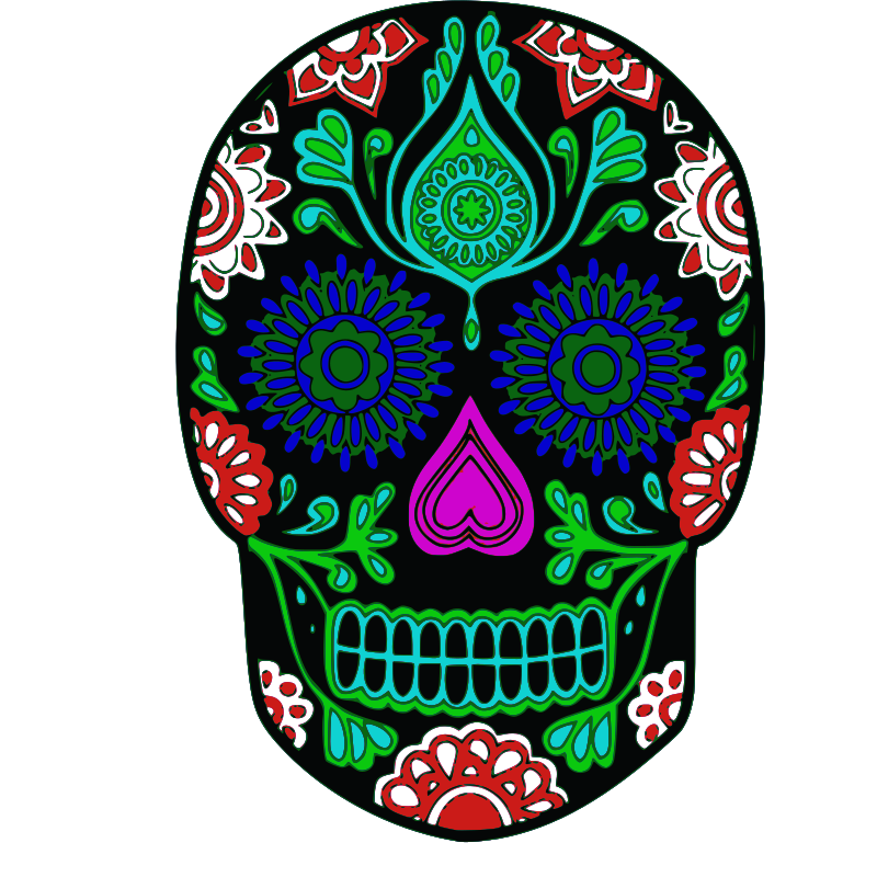 Day Of The Dead clipart colorful Skull IMAGE My Clipart (PNG)