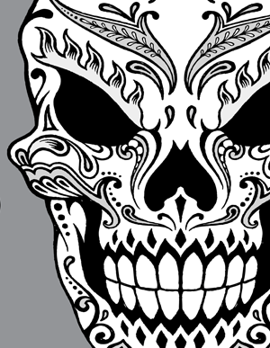 Drawn skeleton dia de los muertos Skull Day drawn Day de