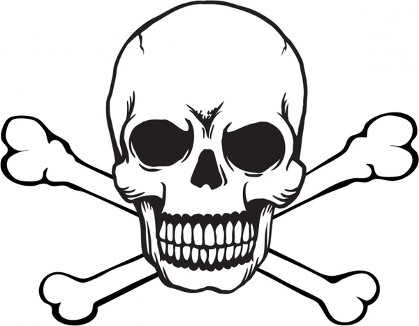 Ssckull clipart dead Vector for download free