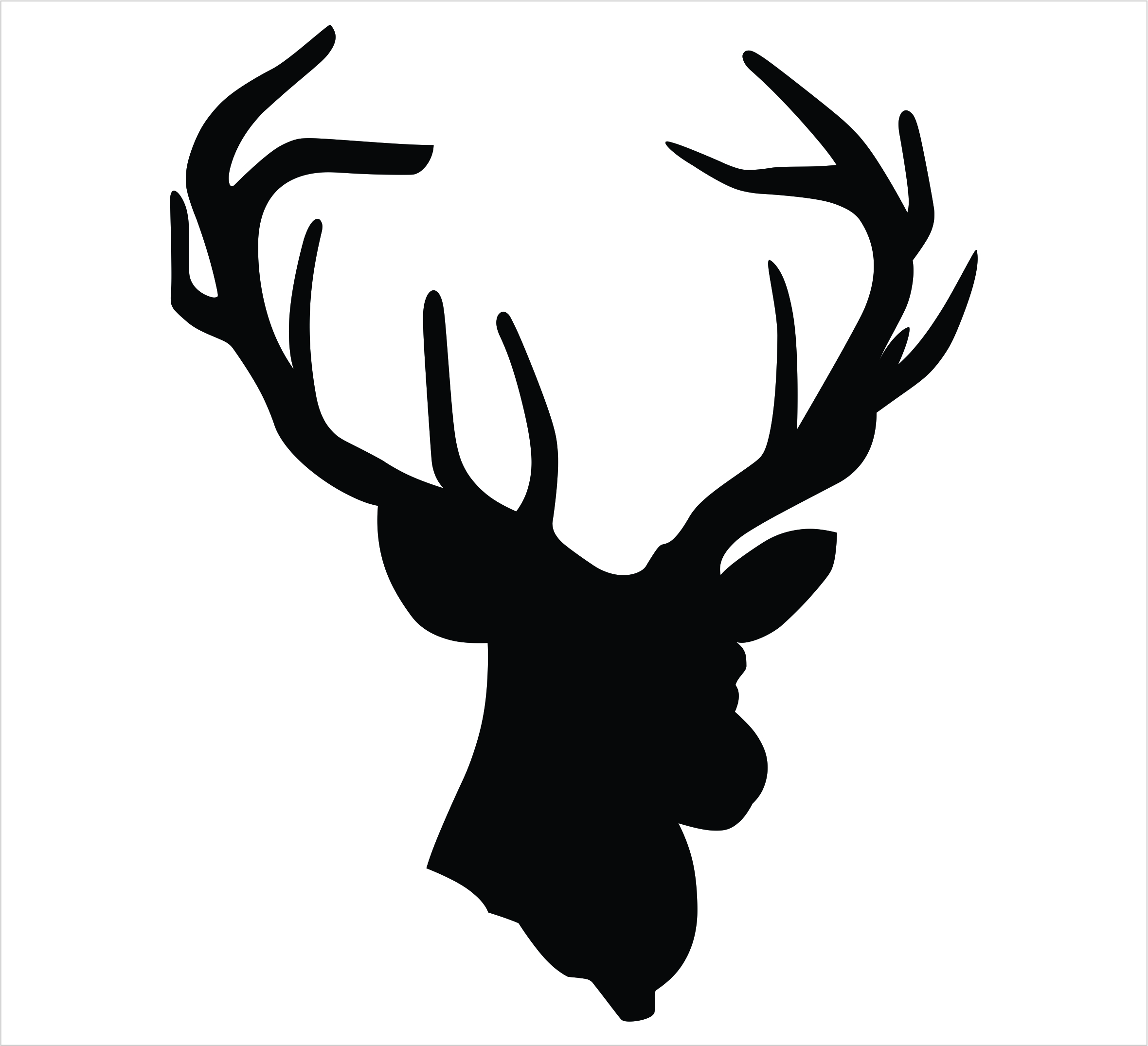 Buck clipart moose head Art Skull Deer Rug Cliparts