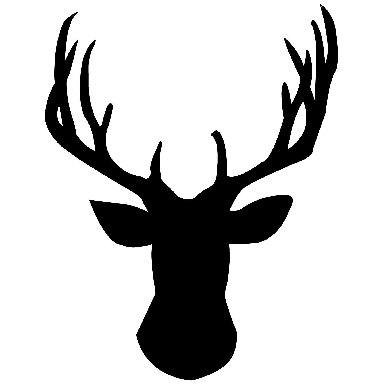 Antler clipart deer head 00  Deer Decal via