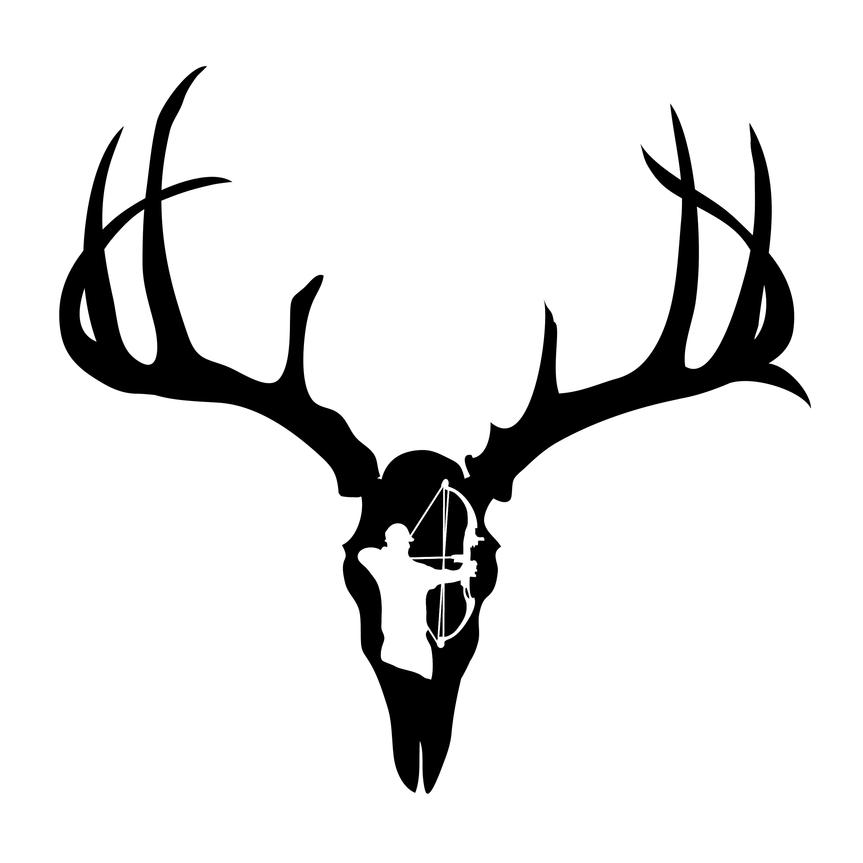 Ssckull clipart deer head Skull deer%20skull%20decal%20drop%20tine Tine Deer Panda