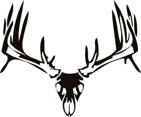 Ssckull clipart deer head  Head Skull Logo 18