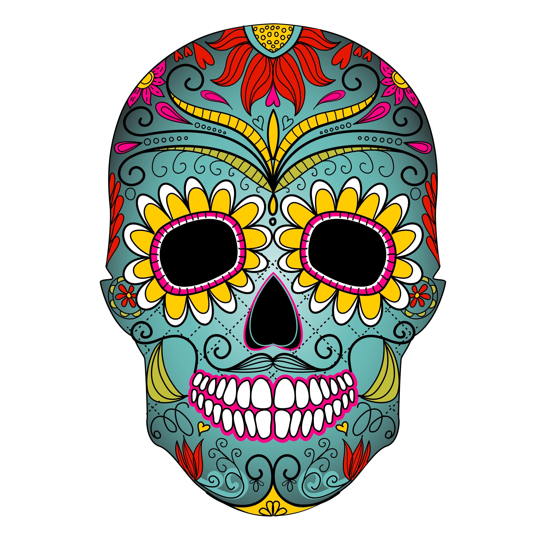 Ssckull clipart dia de los muertos skull Skull dead of clipart the