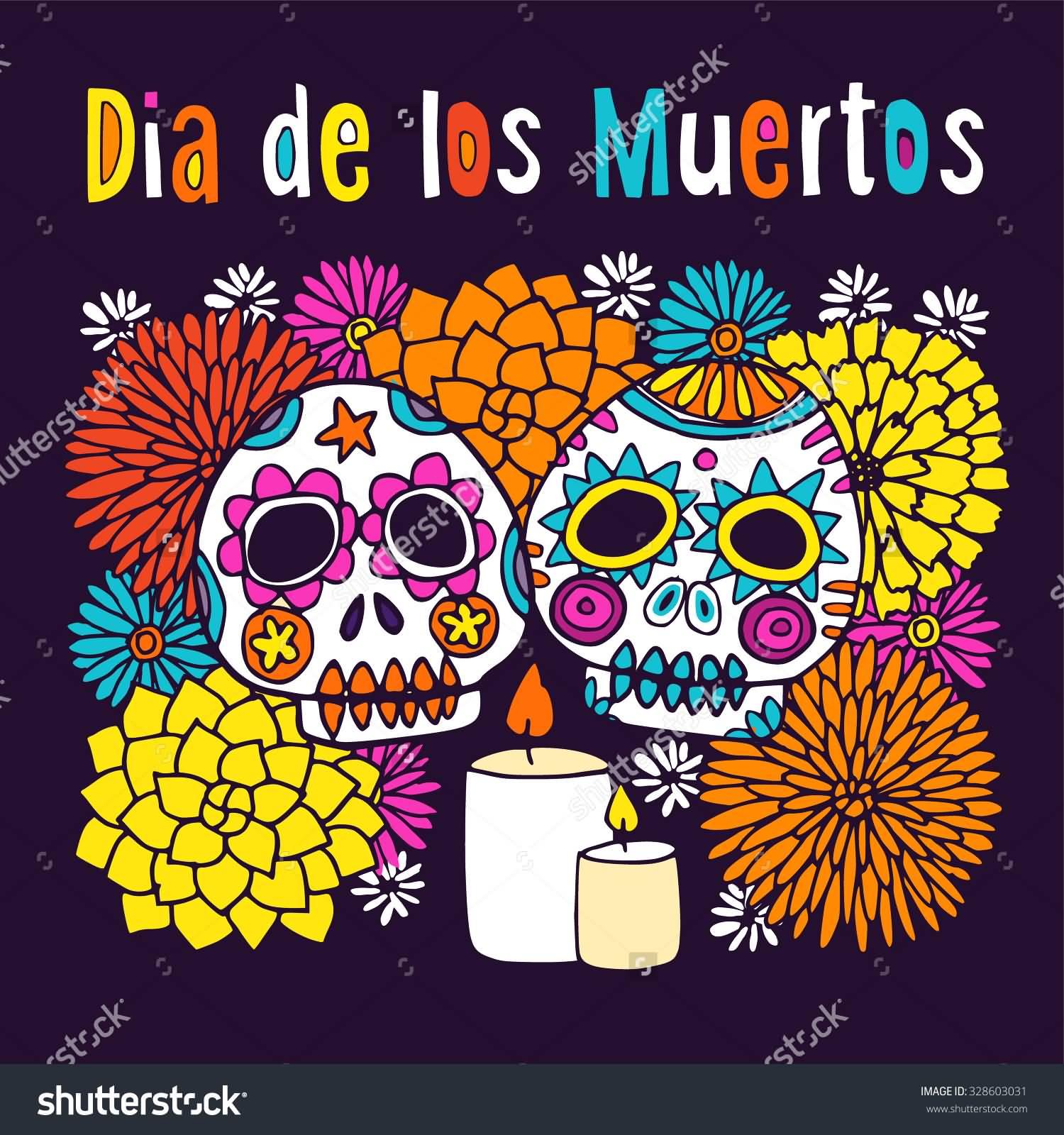 Ssckull clipart dia de los muertos skull Clipart Sugar Colorful Skulls