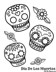 Day Of The Dead clipart coloring sheet Skull Day School Mexican Kid