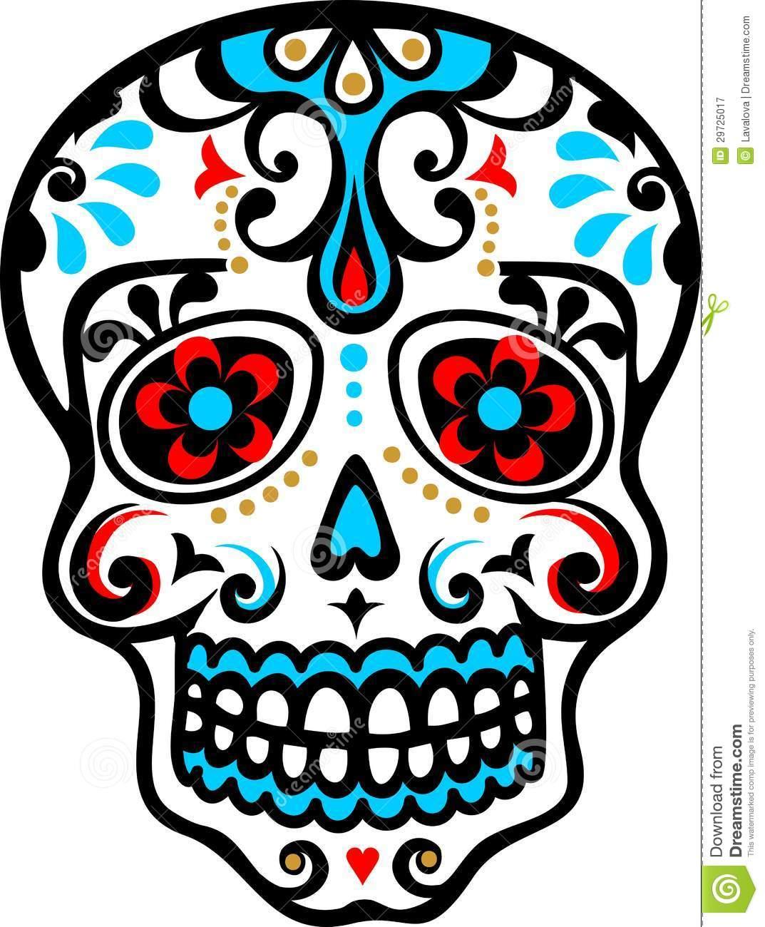 Ssckull clipart dia de los muertos skull El de skull free printables