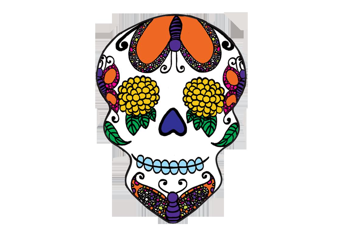 Ssckull clipart dia de los muertos skull De Clip Dia Skulls Sugar