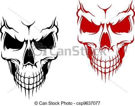 Ssckull clipart drawn Of skull red in