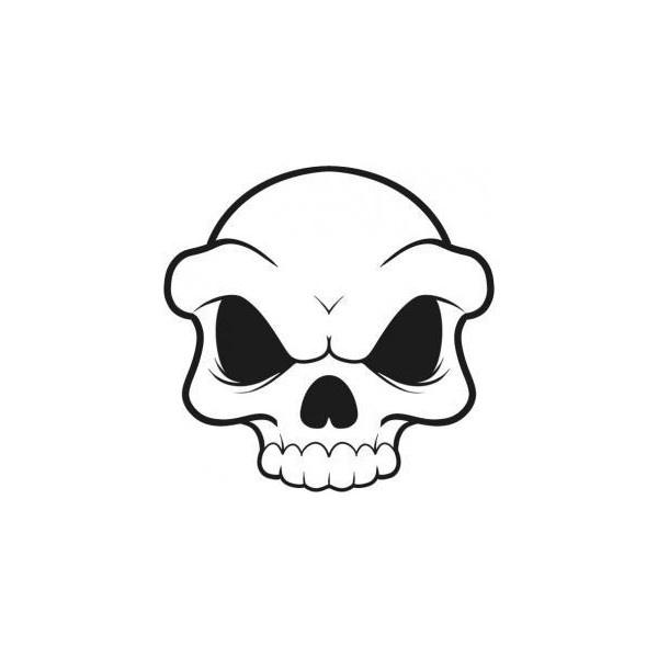Drawn skull simple Pinterest Polyvore top Simple drawings