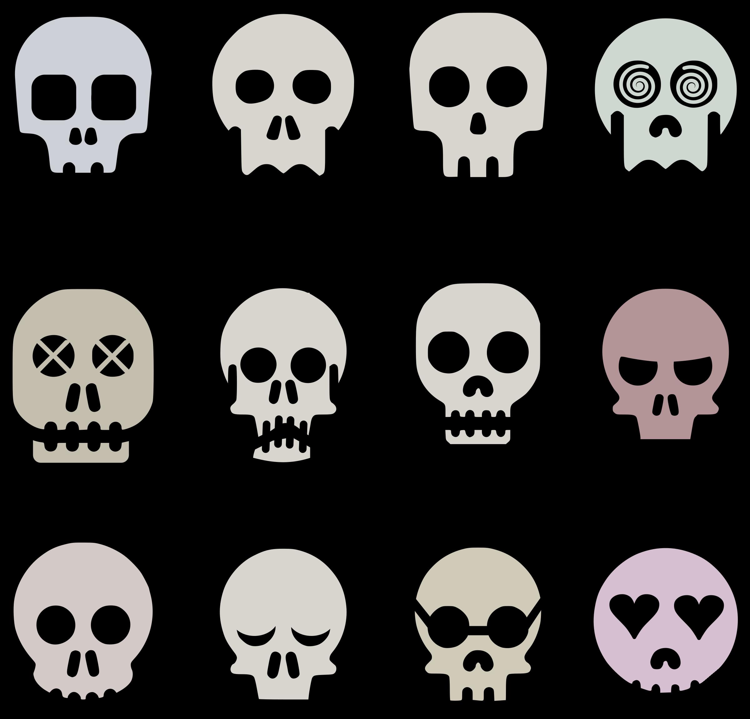Ssckull clipart emoji #15