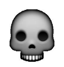 Ssckull clipart emoji #6