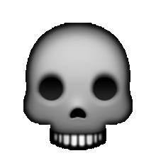 Ssckull clipart emoji #7