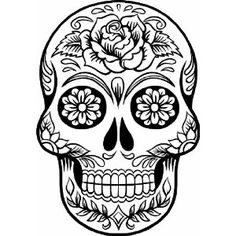 Day Of The Dead clipart Mexican Mexican skull Art art