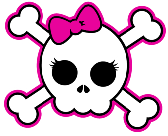 Sugar Skull clipart creepy And Skull Girly skulls Girly
