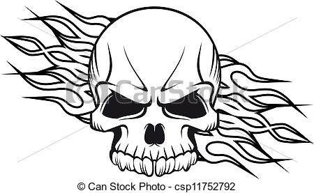 Drawn ssckull flame A Human Flames flames of