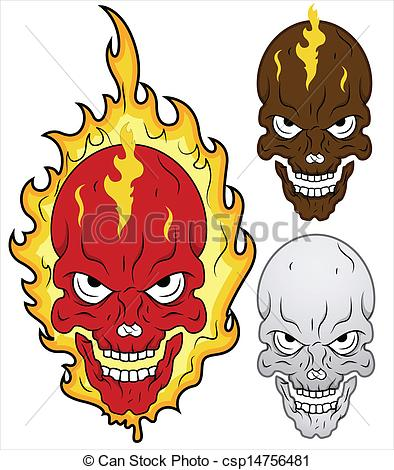 Ssckull clipart flame drawing In if Vector Skull Vector