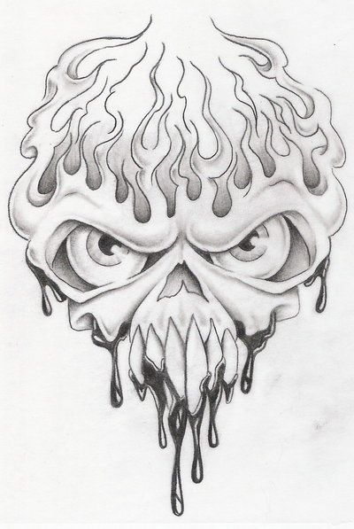 Ssckull clipart flame drawing In on 3 skull best